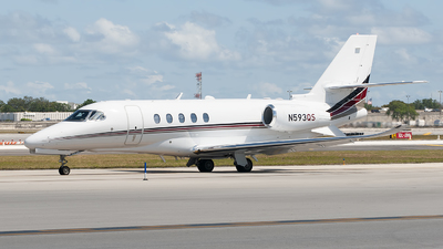 A picture of N593QS - Cessna 680A Citation Latitude - NetJets - © Mark Lawrence