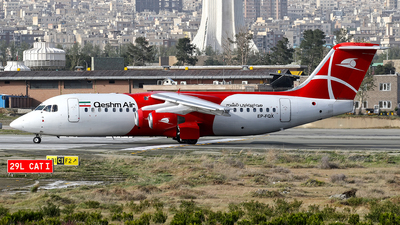 EP-FQX - British Aerospace Avro RJ100 - Qeshm Air
