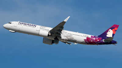 A picture of N228HA - Airbus A321271N - Hawaiian Airlines - © Angel Natal