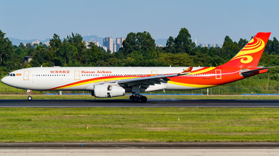 A picture of B1096 - Airbus A330343 - Hainan Airlines - © Miaomiao