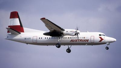 OE-LFD - Fokker 50 - Austrian Airlines