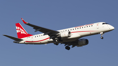 4L-TGU - Embraer 190-100IGW - Georgian Airways (AirZena)