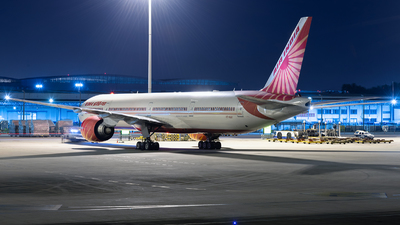 A picture of VTALK - Boeing 777337(ER) - Air India - © ZGGG RWY01
