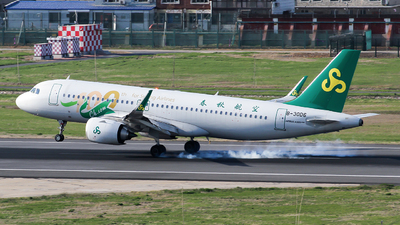 A picture of B30D6 - Airbus A320251N - Spring Airlines - © ceci wong