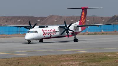 A picture of VTSQE - De Havilland Canada Dash 8400 - SpiceJet - © Shrey Chopra