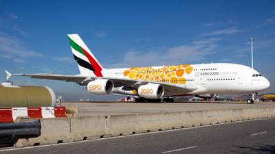 A picture of A6EOU - Airbus A380861 - Emirates - © Alejandro Gutierrez Martin