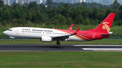 A picture of B1941 - Boeing 73787L - Shenzhen Airlines - © baobao723