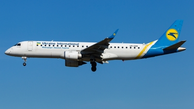 A picture of UREMB - Embraer E190STD - Ukraine Int. Airlines - © Simi