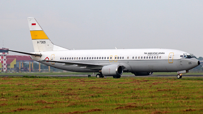 A-7305 - Boeing 737-4U3 - Indonesia - Air Force