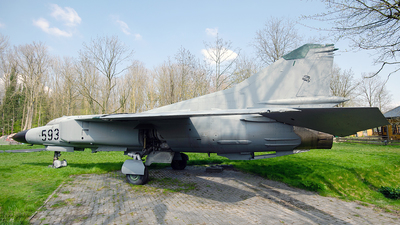 593 - Mikoyan-Gurevich MiG-23MF Flogger B - German Democratic Republic - Air Force