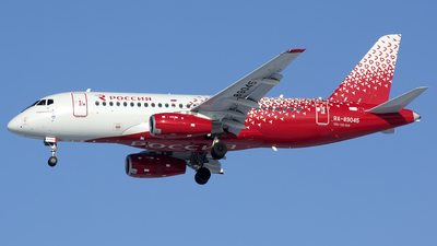 A picture of RA89045 - Sukhoi Superjet 10095B - Rossiya - © SN7756