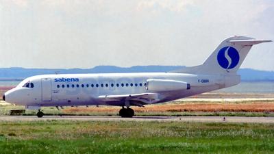 F-GBBR - Fokker F28-1000 Fellowship - Sabena