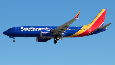 A picture of N8707P - Boeing 737 MAX 8 - Southwest Airlines - © Sandra