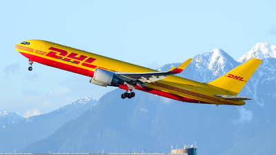 A picture of N739DH - Boeing 767324(ER)(BCF) - DHL - © Chung Kwok