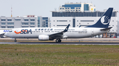 A picture of B5627 - Boeing 73785N - Shandong Airlines - © Sweet Potato