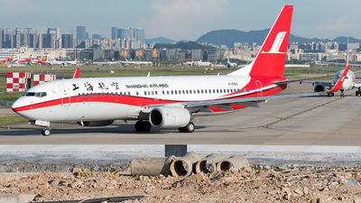 A picture of B5461 - Boeing 73786D - Shanghai Airlines - © ShirokaneRinko