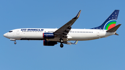 A picture of S2AJD - Boeing 7378Q8 - USBangla Airlines - © Yang Qize