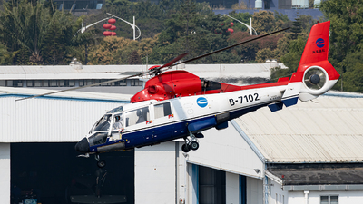 B-7102 - Aérospatiale SA 365N Dauphin 2 - China Offshore Helicopter Service Corporation (COHC)
