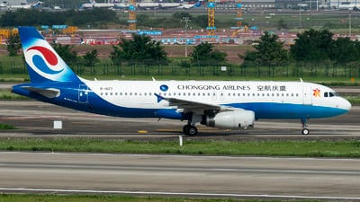 A picture of B1827 - Airbus A320232 - Chongqing Airlines - © SunnyZUUU