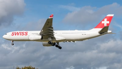 A picture of HBJHF - Airbus A330343 - Swiss - © David W. Wilson