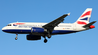 A picture of GDBCF - Airbus A319131 - British Airways - © J.M.Carballo