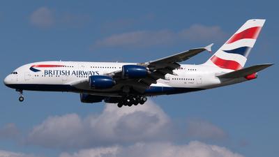 A picture of GXLEF - Airbus A380841 - British Airways - © Sergio Basterrechea