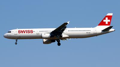 A picture of HBIOC - Airbus A321111 - Swiss - © Javier Rodriguez - Amics de Son Sant Joan