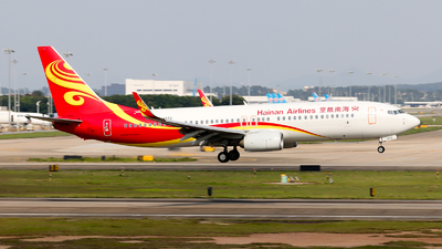 A picture of B1372 - Boeing 73784P - Hainan Airlines - © Jackson Zheng