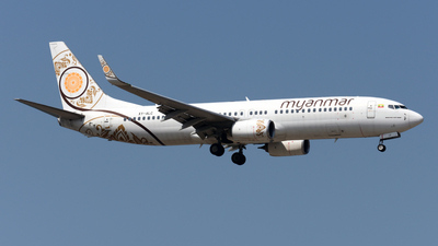 A picture of XYALC - Boeing 73786N - Myanmar National Airlines - © Alvin Ho - AHKGAP