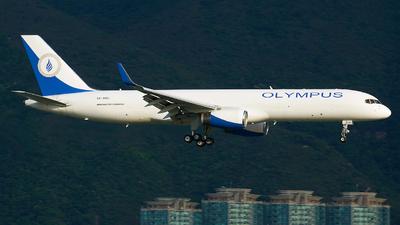 A picture of SXAMJ - Boeing 757223(PCF) - Olympus Airways - © George Lau - AHKGAP
