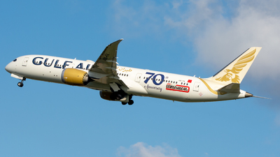 A picture of A9CFA - Boeing 7879 Dreamliner - Gulf Air - © srmark