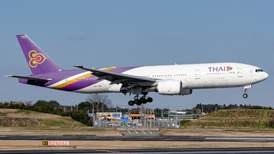 A picture of HSTJR - Boeing 7772D7(ER) - Thai Airways - © S. Waki