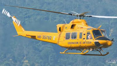 HK-3578G - Bell 412HP - Colombia - Gobernacion de Antioquia