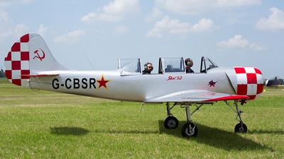 G-CBSR - Yakovlev Yak-52 - Private