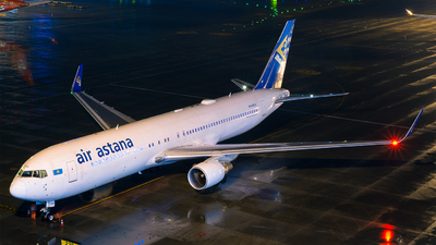 A picture of P4KEA - Boeing 7673KY(ER) - Air Astana - © Marcus Yu