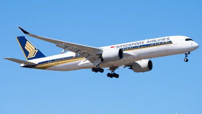 A picture of 9VSMV - Airbus A350941 - Singapore Airlines - © perthplanes1046