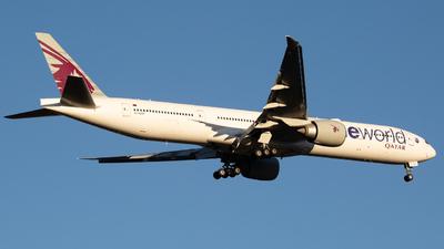 A picture of A7BAF - Boeing 7773DZ(ER) - Qatar Airways - © Joel Baverstock