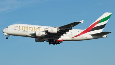 A picture of A6EOZ - Airbus A380861 - Emirates - © RAFAL KUKOWSKI