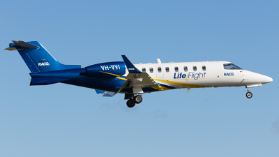 VH-VVI - Bombardier Learjet 45 - Life Flight
