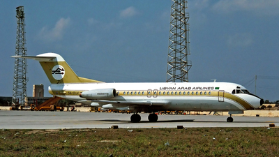 5A-DLV - Fokker F28-4000 Fellowship - Libyan Arab Airlines