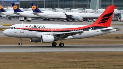 TC-ANA - Airbus A319-115X(CJ) - Albania - Government