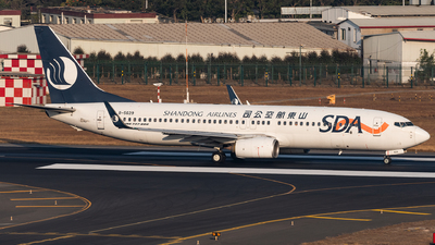 A picture of B5629 - Boeing 73785N - Shandong Airlines - © AndySpotter