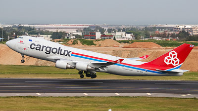 A picture of LXKCL - Boeing 7474HAF(ER) - Cargolux - © ECHO