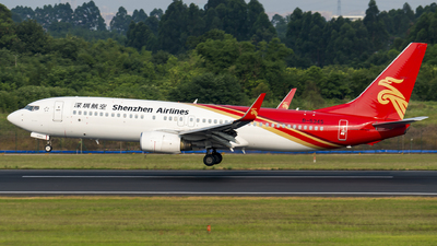 A picture of B5345 - Boeing 73786N - Shenzhen Airlines - © SunnyZUUU