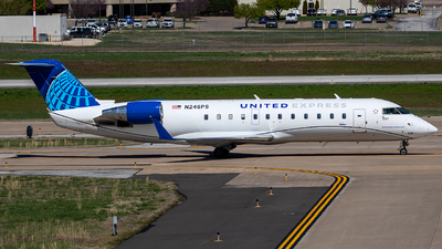 A picture of N246PS - Mitsubishi CRJ200LR - United Airlines - © Ani Thyagarajan
