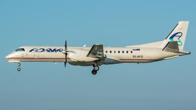 A picture of S5AFG - Saab 2000 - Adria Airways - © Thierry Weber