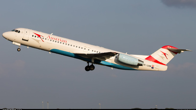 OE-LVM - Fokker 100 - Austrian Airlines (Tyrolean Airways)