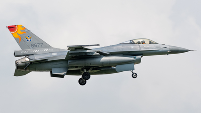 6677 - Lockheed Martin F-16AM Fighting Falcon - Taiwan - Air Force