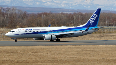 JA87AN - Boeing 737-8AL - All Nippon Airways (ANA)