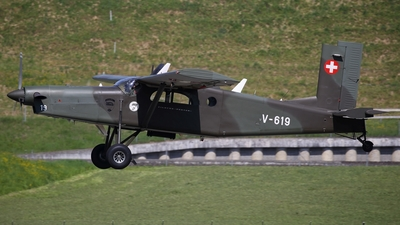V-619 - Pilatus PC-6/B2-H4 Turbo Porter - Switzerland - Air Force